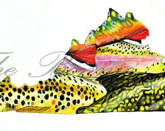 Virginia Fishing Pastel | Giclee Prints
