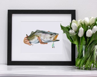 Speckled Trout with Lure | Giclee Prints