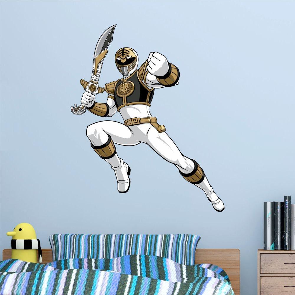 Mighty Morphin Power Rangers White Ranger Peel Stick Poster Etsy