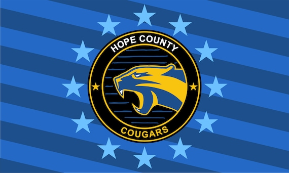 Far Cry Flag Hope County Cougars Landscape 3 X 5 Ft 90 X Etsy