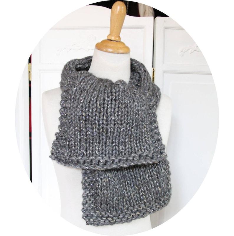 Grigio lana sciarpa lana Merino e alpaca anello  bd46906367b