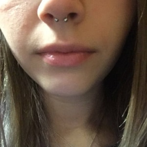 """Septum Jewelry Ring 16g 5//16/"""" 8mm Safety Pin Design"""