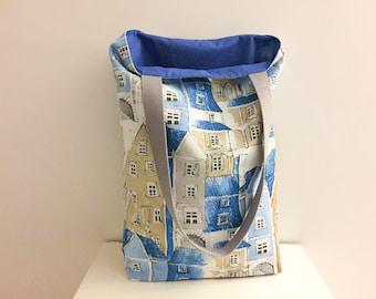 Bag, Tote, tote bag Tote in cotton blue, gift idea