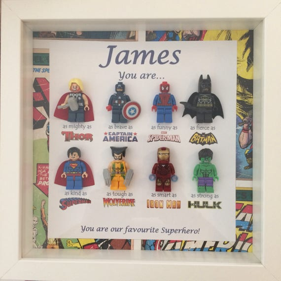 Personalised SUPERHERO Birthday Gifts for DADDY DAD UNCLE GRANDAD Any Name