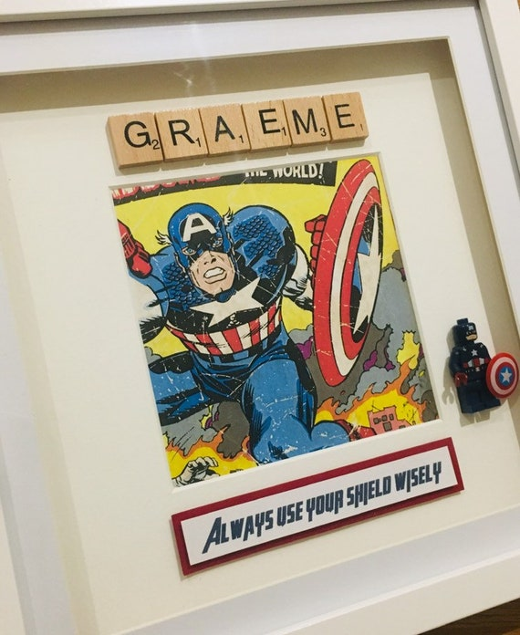 Handmade Personalised Picture Frame Lego Superhero Marvel Etsy