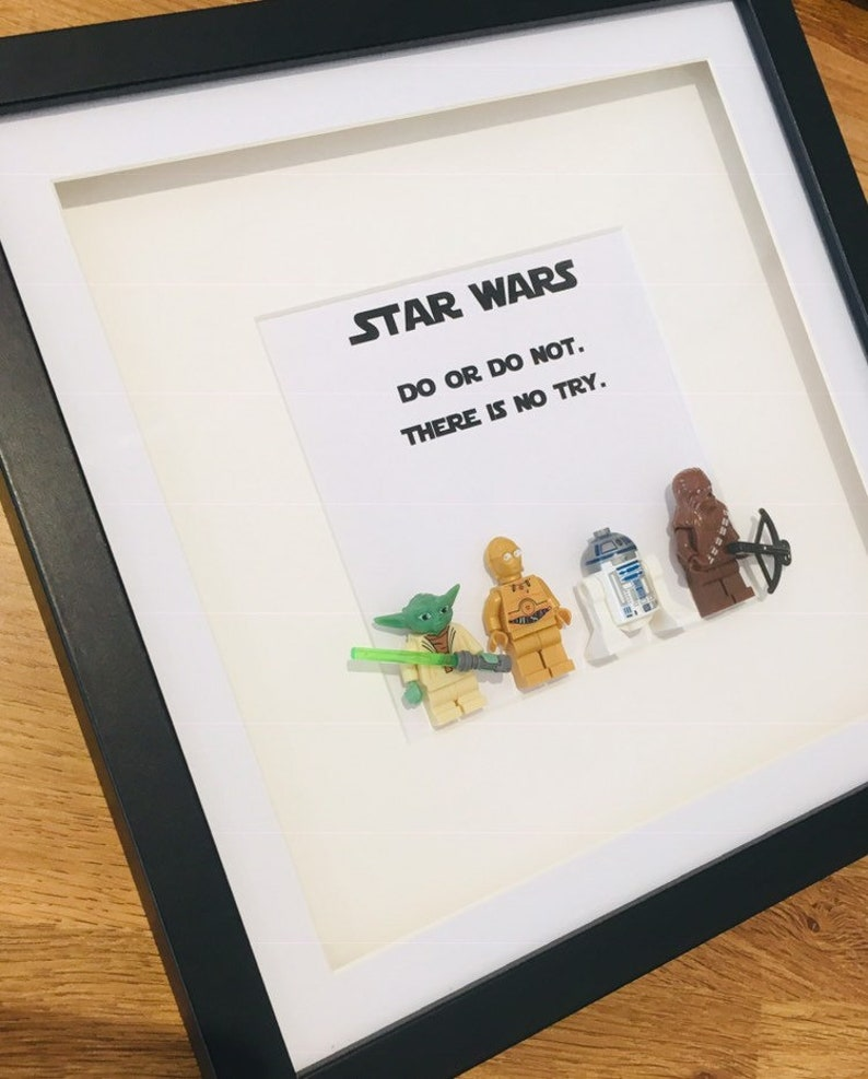 Personalised Picture Frame Lego Star Wars Yoda Chewbacca Etsy