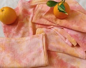 JUICY cloth napkin set - Handmade and Hand-Dyed - Reusable - for Dinner Parties, Weddings, and Cocktails