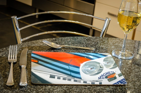 Lancia Delta S4, Group B Rally Car, Dining Table Mat, 260mmx 200mm, High Gloss Finish