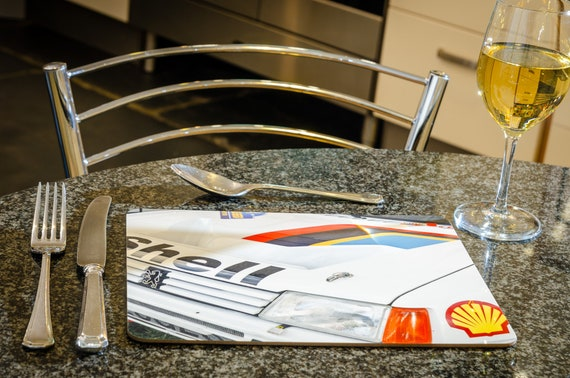 Peugeot 205 T16 , Group B Rally Car, Dining Table Mat, 260mmx 200mm, High Gloss Finish