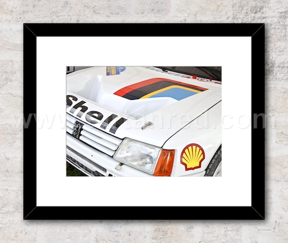 Peugeot 205 T16 Group B Rally Car Photo / Print, Wall Art, Ari Vatanen, Juha Kankkunan, Timo Salonen, World Rally Championship, 1980s