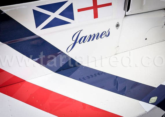 James Hunt, Hesketh Racing Cosworth 308, Grand Prix Car, A3 or A4 Fine Art Giclee Canvas Print from Original Photograph by Marcus Pomfret