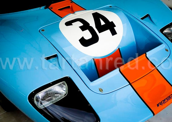 Ford GT40, Le Mans 24 Hour, 1960s Endurance Racing Car, A2 or A1 Fine Art Giclee Canvas Print from Original Photograph by Marcus Pomfret