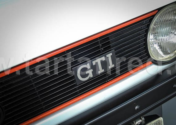 Volkswagen Golf GTI Mk 1, A2 or A1 Fine Art Giclee Canvas Print from Original Photograph by Marcus Pomfret
