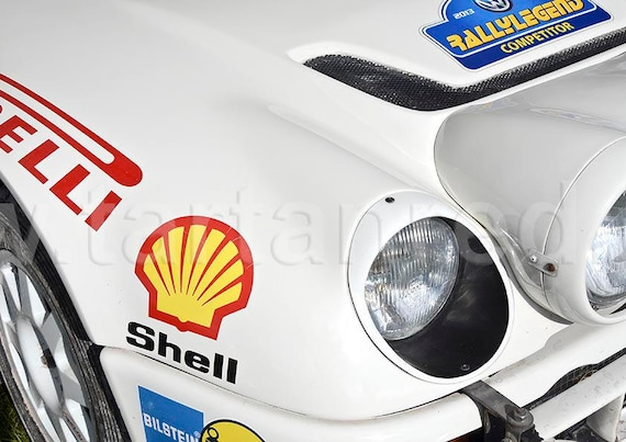 Ford RS200 Group B Rally Car, A4 or A3 Fine Art Giclee Canvas Print from Original Photograph by Marcus Pomfret