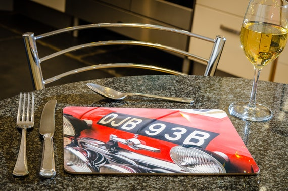 DJB 93B Mini Cooper S, RAC Rally, Dining Table Mat, 260mmx 200mm, High Gloss Finish