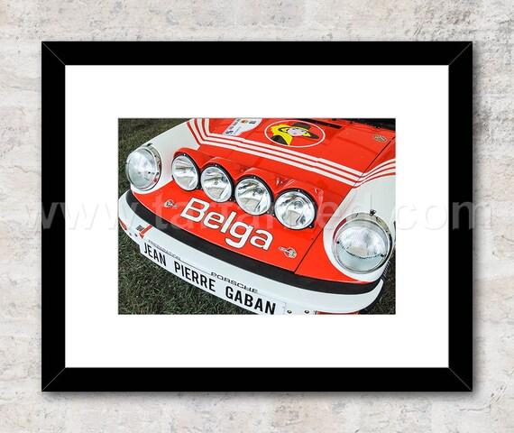 Porsche 911 Belga Livery Rally Car Photo / Print, Wall Art