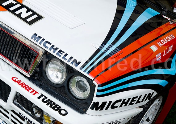Lancia Delta Integrale Evolution, Group A Rally Car, A2 or A1 Fine Art Giclee Canvas Print from Original Photograph by Marcus Pomfret