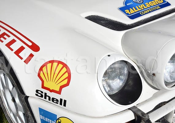 Ford RS200 Group B Rally Car, A2 or A1 Fine Art Giclee Canvas Print from Original Photograph by Marcus Pomfret