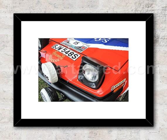 Triumph TR7 V8 Group 4 Rally, Photo / Print, Wall Art, Tony Pond, Per Eklund, Simo Lampinen, Jean Luc Therier