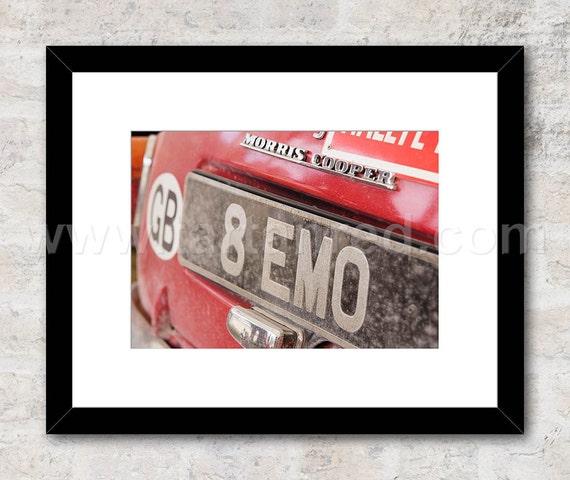 Morris Mini Cooper S, 8 EMO, BMC Works Mini, Photo / Print, Wall Art