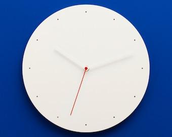 CLOKK – Wall Clock, Plywood, Multiplex, White, 1-WP