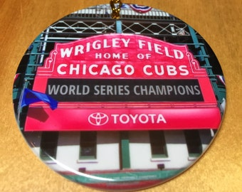 Christmas Tree Ornament, Chicago Cubs World Series Champions Christmas Tree Ornament, Wrigley Field,Chicago Cubs, Christmas Ornament