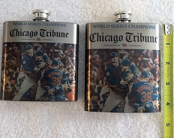 160e398fe Chicago Cubs Flask, Stainless Steel Flask, Chicago Cubs, Chicago Cubs  Bottle, Cubs Bar Decor, Groomsmen Gifts, Groom Gift, Wedding,Mans Gift
