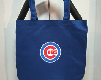 Store Bag Cubs Bag Chicago Cubs Eco Friendly Reusable Cloth Shopping Tote Bag Fabric Market Bag Gift Bag Tote Bag Shopping Tote