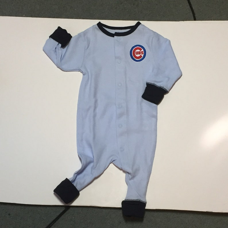 91a6fed0473f Chicago Cubs baby onsie Organic Infant clothing Baby