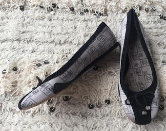 213bb6e8b Vintage CHANEL Satin Logos CC Mania!! Ballet Flats Sandals Flip Flops  Slides Slip On Wedges Clogs eu 38 us 7 - 7.5