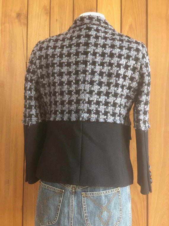 Vintage 90's MOSCHINO HOUNDSTOOTH Checkered SET! … - image 9