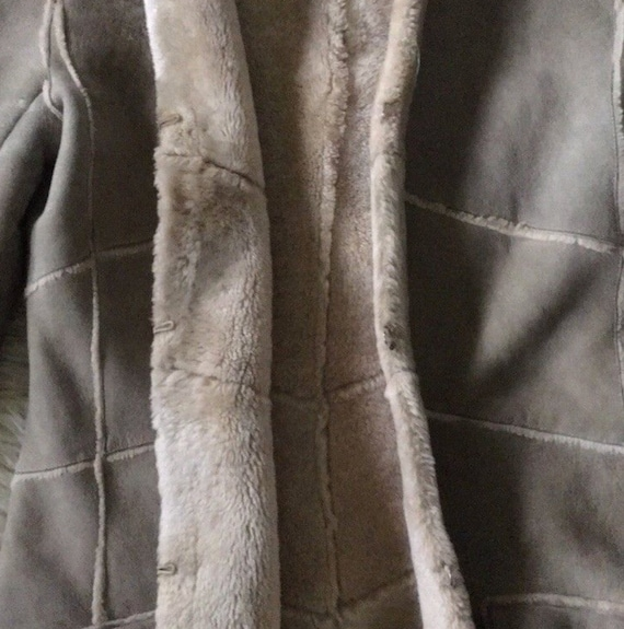Vintage 90's CHANEL Leather Shearling Lambs Wool … - image 6