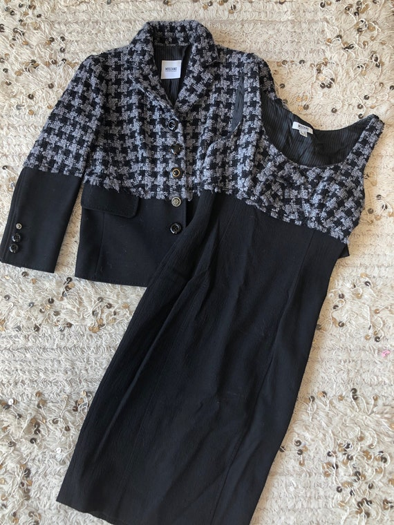 Vintage 90's MOSCHINO HOUNDSTOOTH Checkered SET! … - image 1