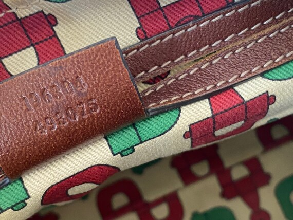 Vintage GUCCI GG Monogram Leather Embossed Logo M… - image 4