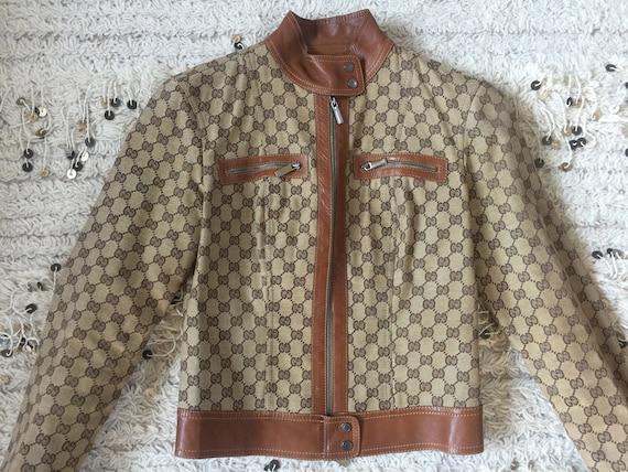 b433457c9 Vintage Rare GUCCI GG MONOGRAM Supreme Womens Leather Trim | Etsy