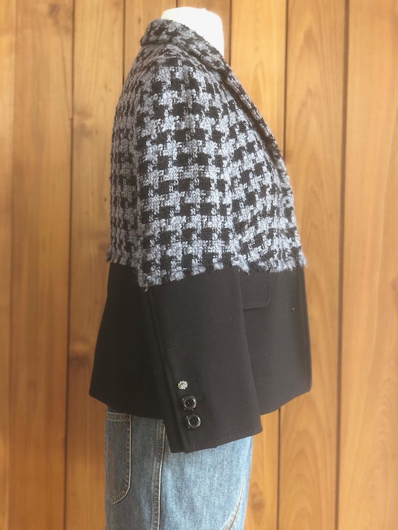 Vintage 90's MOSCHINO HOUNDSTOOTH Checkered SET! … - image 10