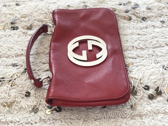 8f53464d776b3 Vintage GUCCI BLONDIE 1973 Brit Huge GG Monogram Logo Hardware 1973 Clutch  Purse Bag Shoulder Crossbody Messenger