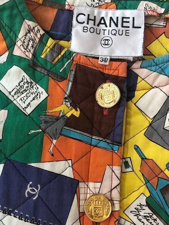 Vintage 90's CHANEL Monogram CC Logo Multicolor Q… - image 4