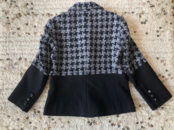 Vintage 90's MOSCHINO HOUNDSTOOTH Checkered SET! … - image 3