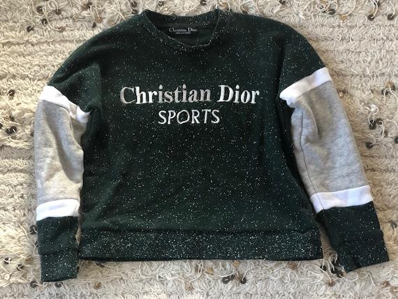Vintage CHRISTIAN DIOR SPORTS Monogram Logo Sweate