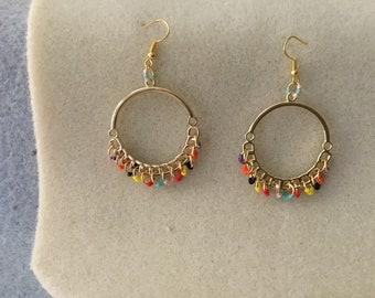 """Ladies 2 & 1/2"""" Long Hoop Earrings."""