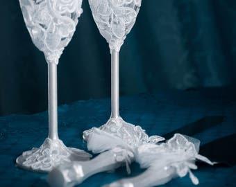 4pcs de mariage en dentelle Ultra Violet mariage verres | Etsy