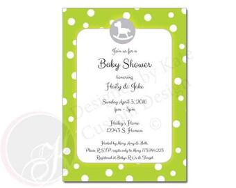 Polk-a-dot Baby Shower Invitation