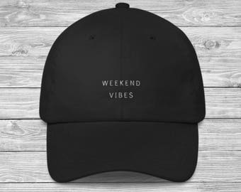 c49194b08d19f0 Weekend Vibes Embroidered Baseball Cap / Womens Baseball Hat / Cute Weekend  Hat / Womens Casual Hat / Hat with Saying