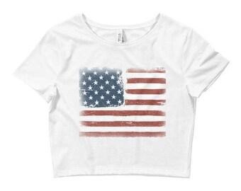 ca9d0a03c3 4th of July Crop Top   4th of July Outfit   4th of July Shirts   Fourth of  July Shirt   Patriotic Shirt
