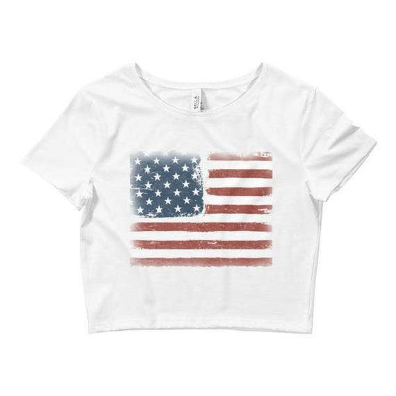 17c369b5a47f5c 4th of July Crop Top   4th of July Outfit   4th of July Shirts