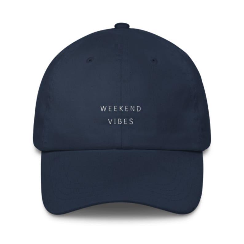 2a0974ef2e77d3 Weekend Vibes Embroidered Baseball Cap / Womens Baseball Hat | Etsy