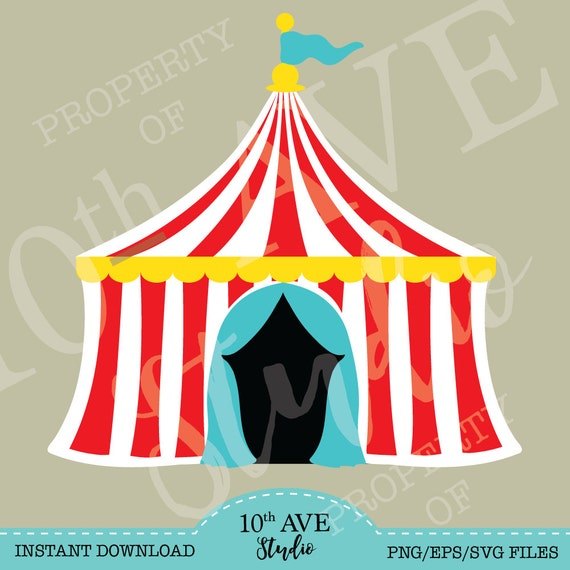CarnivalCircusBig Top Tent SVG/PNG/EPS/dxf Clipart and cut ...