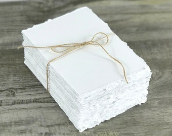 Deckled Edge Paper Hand Torn Great for invitations, RSVP, Menus, Table Number, Calligraphy, Watercolor