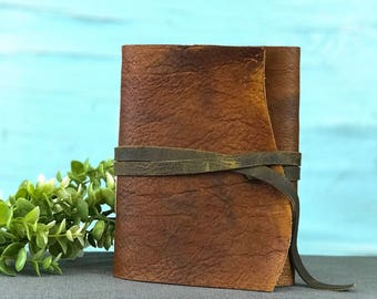 Personalized Leather Bound Journal Personalized Rustic Leather Notebook Rustic Leather Diary Leather Journal Rustic  Personalized Gift